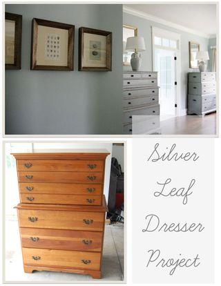 Jennifer Carroll Events Blog My Diy Silver Leaf Dresser